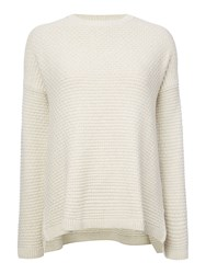 Dickins And Jones Carrie Texured Knit Jumper Oatmeal Marl