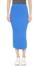 Wes Gordon Column Skirt Adriatic Blue