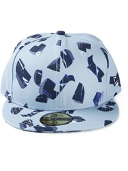 Kenzo 'New Era' Metallic Curls Cap Blue