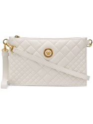 Versace Quilted Medusa Clutch Bag White