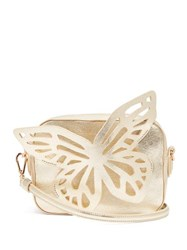 Sophia Webster Flossy Butterfly Leather Cross Body Bag Gold