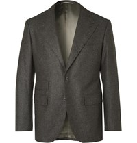Camoshita Vitale Barberis Canonico Dark Grey Wool Suit Jacket Gray