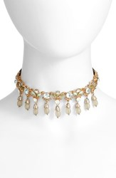 Marchesa Women's Sheer Bliss Adjustable Necklace Mint Gold