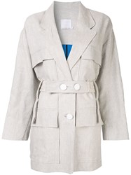 Christopher Esber Belted Coat Neutrals
