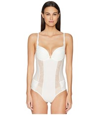 La Perla Citrine Padded Bodysuit Off White Jumpsuit And Rompers One Piece