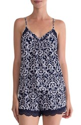 In Bloom By Jonquil Women's Lace Racerback Camisole Ivory Navy