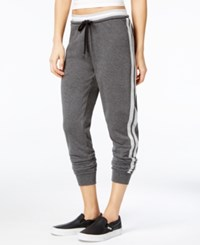 Material Girl Active Juniors' Glitter Trim Jogger Pants Only At Macy's Heather Charcoal
