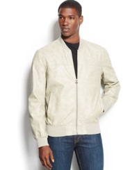 Levi's Faux Leather Varsity Bomber Jacket Cement