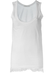 Sacai Luck Lace Cami Tank Top White