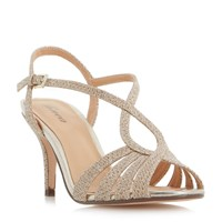 Linea Madisan Strappy Cross Over Sandals Gold