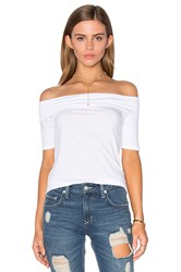 Feel The Piece Linzee Off Shoulder Top White