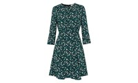 Whistles Anjelica Bell Flower Dress Green Multi