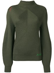 Carven Structured Knit Sweater Green