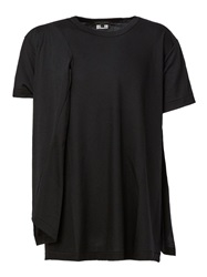 Comme Des Garcons Homme Plus Cut Out Detail T Shirt Black