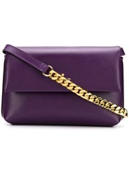 Philippe Model Foldover Top Shoulder Bag Purple