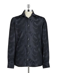 Pure Patterned Sportshirt Blue
