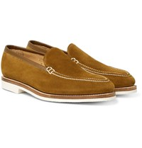 George Cleverley Riviera Suede Loafers Tan