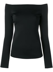 Theory Off The Shoulder Blouse Black