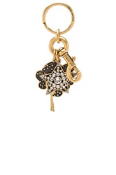 Marc Jacobs Enamel Tree And Star Bag Charm Metallic Gold