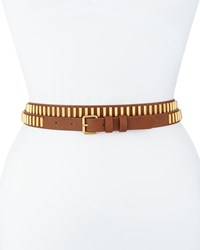 Haute Hippie Long And Winding Road Belt Cognac Gold Red Gold