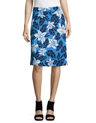 Tommy Bahama Olympias Blooms Short Jersey Skirt Blue