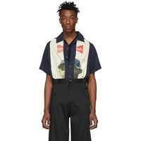 Telfar Black And Beige Slash Pocket Bowling Shirt
