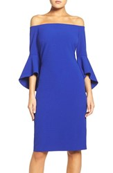 Chelsea 28 Women's Chelsea28 Off The Shoulder Stretch Sheath Dress Blue Surf