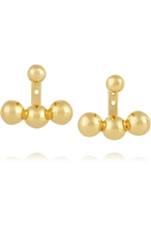 Arme De L'amour Sphere Anchor Gold Plated Earrings