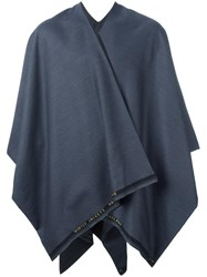 Ermanno Gallamini Two Tone Cape Blue