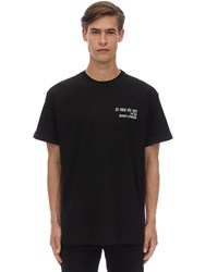 Ih Nom Uh Nit Logo And Quote Print Cotton Jersey T Shirt Black