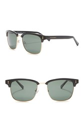 Cole Haan Polarized 54Mm Clubmaster Sunglasses Black Matte Gold Gl