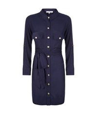 Heidi Klein Belted Shirt Dress Royal