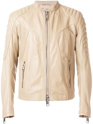 Les Hommes Moto Jacket Nude And Neutrals
