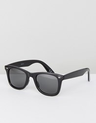 Asos Design Square Sunglasses In Black