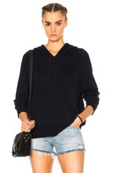 James Perse Cashmere Oversize Hoodie In Blue