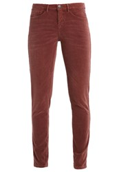 Opus Emily Trousers Rusty Rose Red Metallic