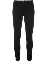 Gucci Panther Embroidered Skinny Jeans Black