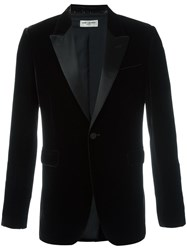 Saint Laurent 'Iconic Le Smoking 70'S' Velvet Blazer Brown