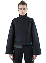 Paco Rabanne Twill Wool Pea Jacket Black
