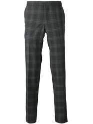 Fashion Clinic Timeless Plaid Tailored Trousers Grey