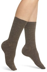 Smartwool 'Cable Ii' Crew Socks Taupe