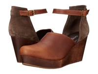 Cordani Felton Whiskey Brown Wood Women's Wedge Shoes