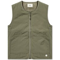 Folk Wadded Gilet Green