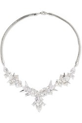 Noir Jewelry Freeze Up Silver Tone Crystal Necklace One Size