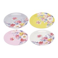 Joules Blaze Floral Plates Set Of 4 Whitstable Floral