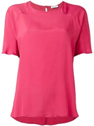 Dondup Plain T Shirt Pink Purple