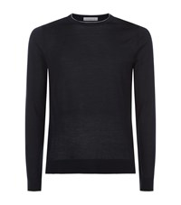 Sandro Line Merino Jumper Male Blue