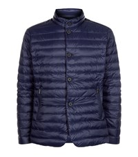 Hackett Aston Martin Quilted Down Jacket Male Navy