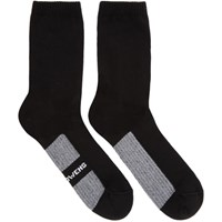 Rick Owens Black Logo Stripe Socks