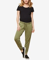 Motherhood Maternity Under Belly Jogger Pants Olive